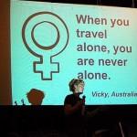 Anick-Marie globestoppeuse conférence roadjunky festival