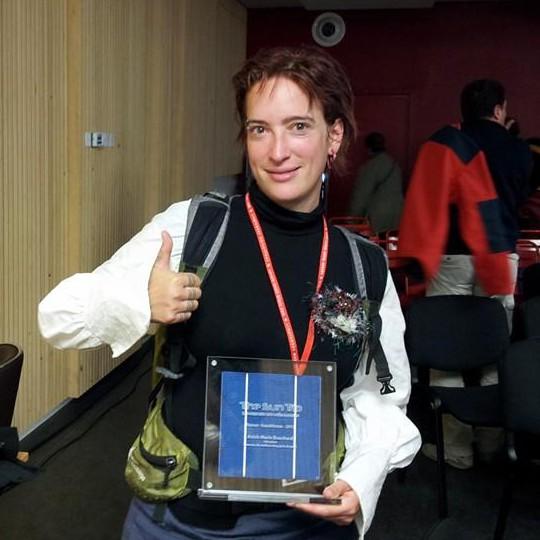 Anick-Marie reçoit le prix du jury pou le meilleur blog SunTrip 2013