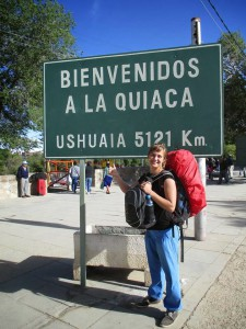 Florence auto-stoppeuse à la Quiaca