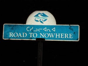 sign road to nowhere Iqaluit
